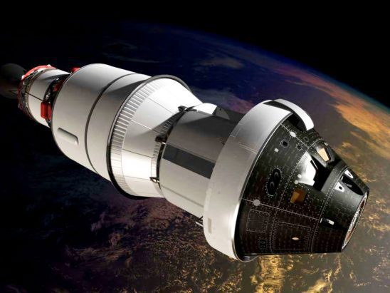 An artist's portrayal of NASA's Orion spacecraft.