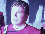 Kirk standing on the god planet in Star Trek V.