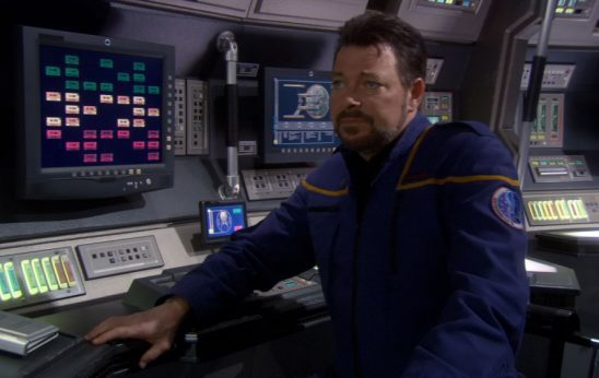 Riker in an Enterprise Uniform.