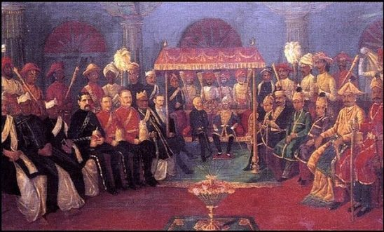 Officials of the British Raj