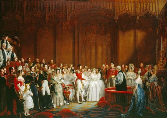 A painting of Queen Victoria's royal marriage.