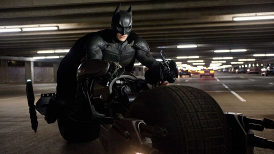 Batman on his Bat-Cycle
