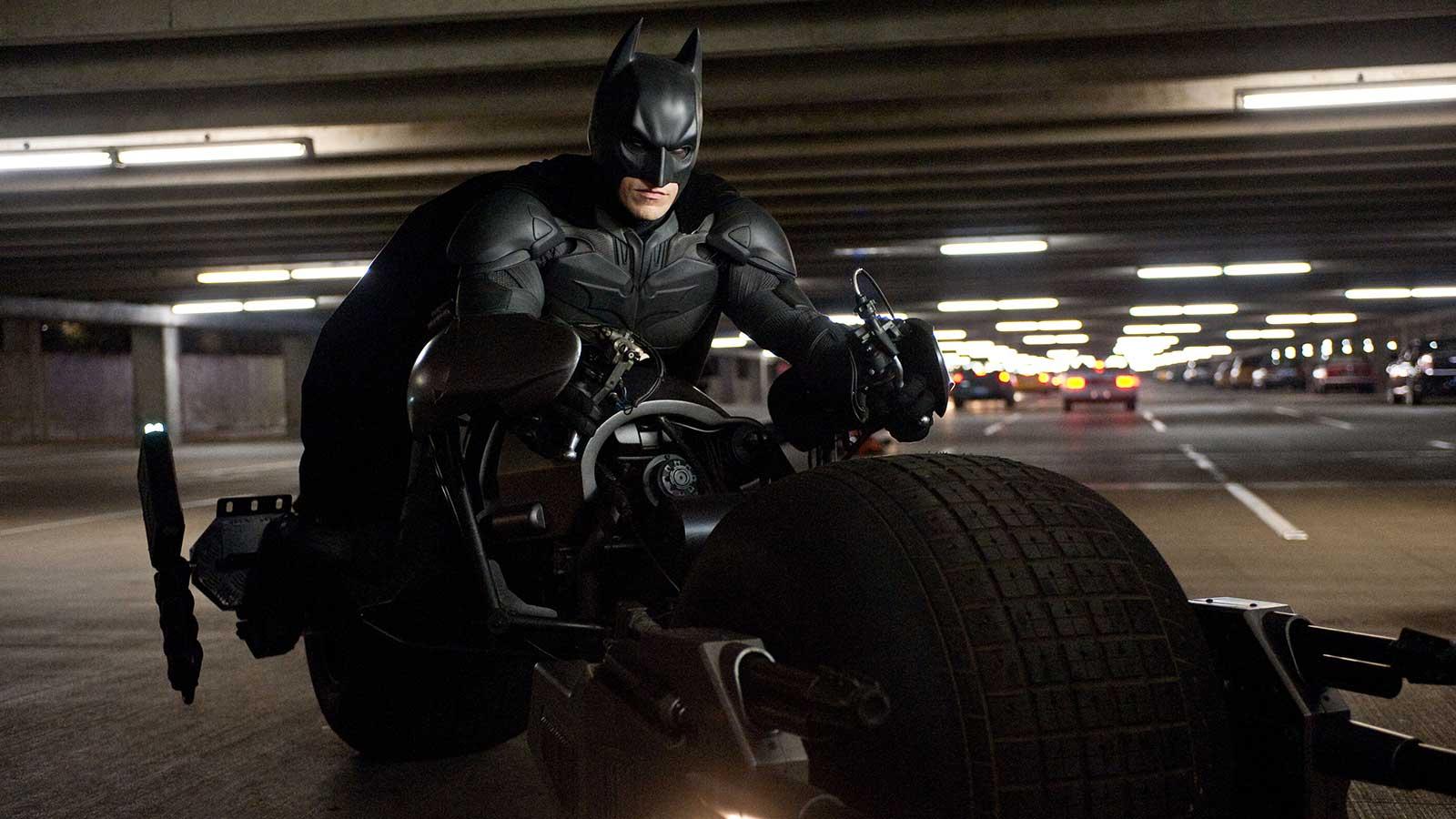 Batman on his Bat-Cycle