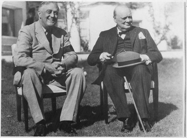 President Franklin Roosevelt and Prime Minister Winston Churchill