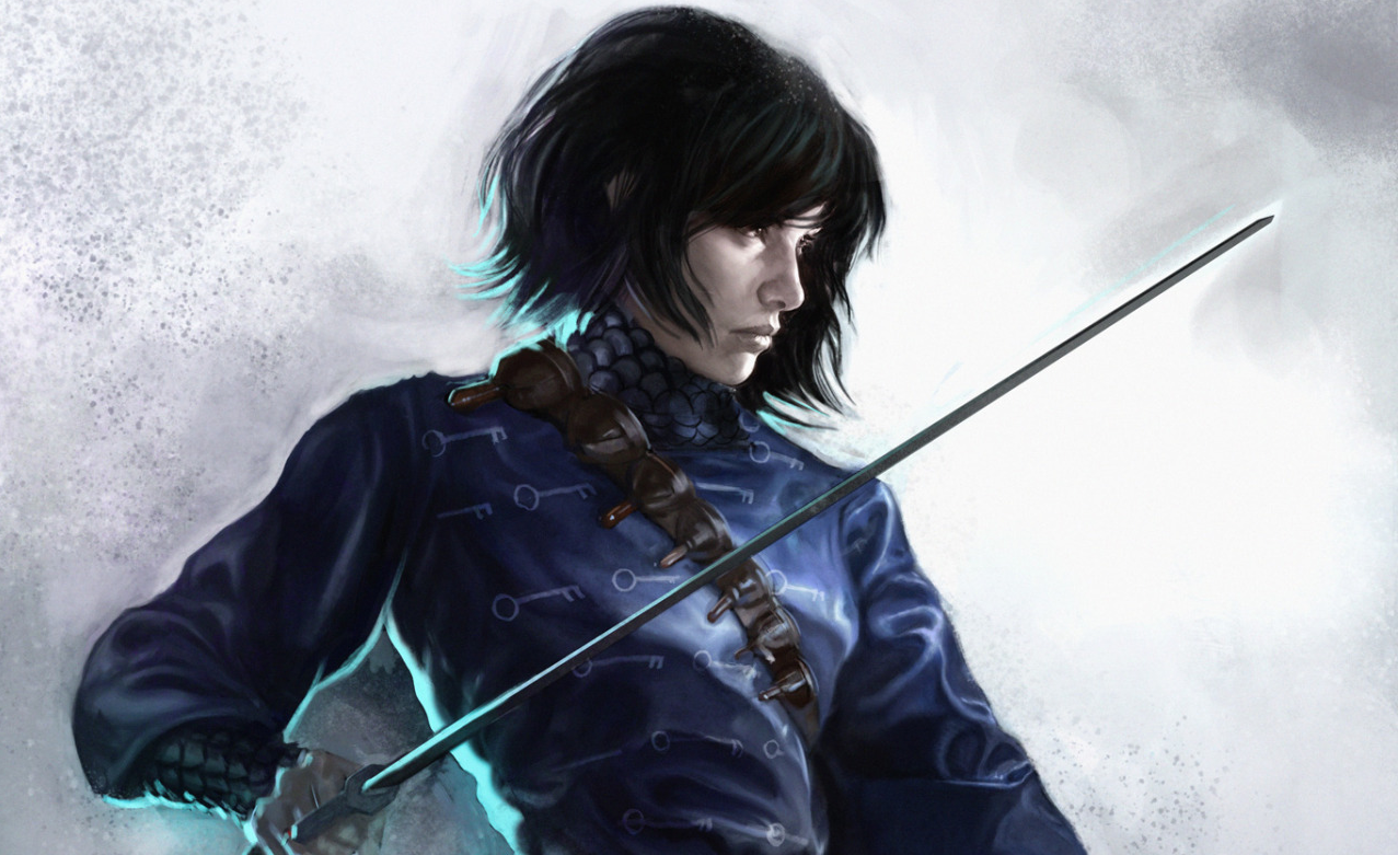 Cover art from Sabriel, first book of the Old Kingdom series.