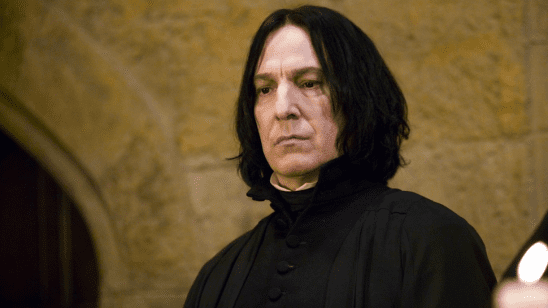 Snape looking stern.