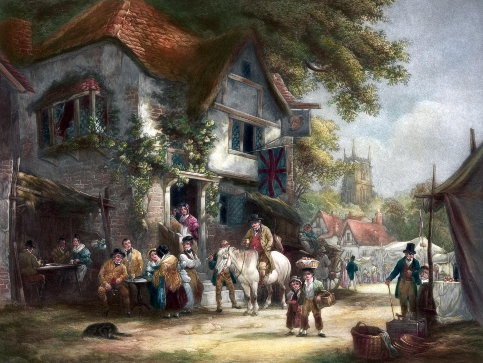 An idyllic fashioned village.