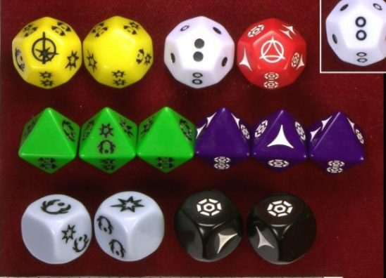 Fantasy Flight's Star Wars dice.