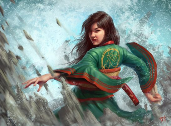 A shugenja from Legend of the Five Rings