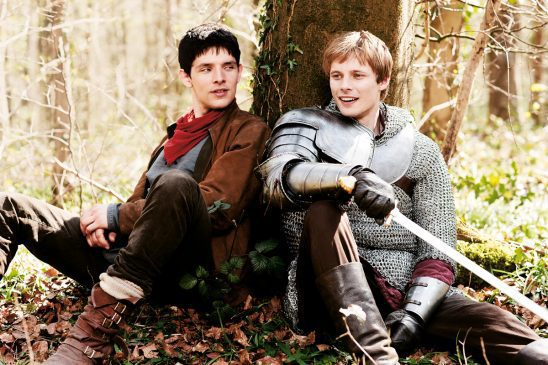 Merlin and Arthur from the TV show Merlin.