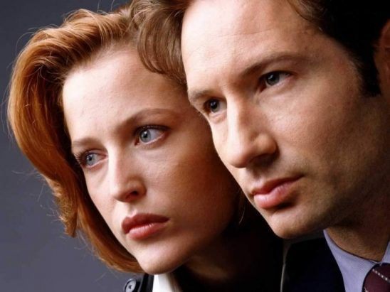 Scully and Mulder's faces, side by side.
