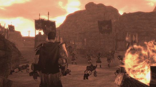 A legion camp from Fallout: New Vegas