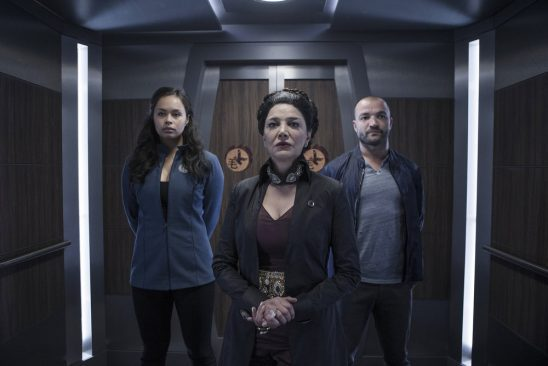 Bobbie and Avasarala from The Expanse.