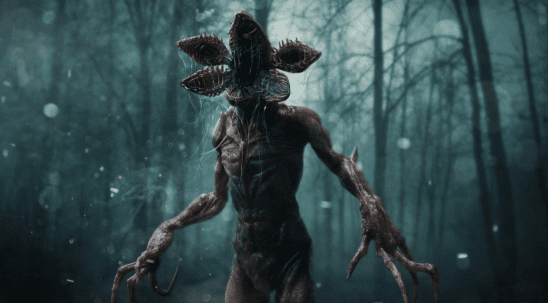 The Demogorgon from Stranger Things.