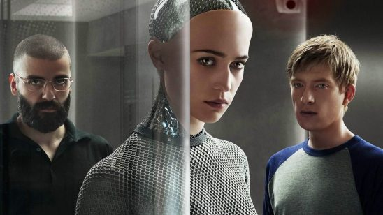 The three main characters of Ex Machina