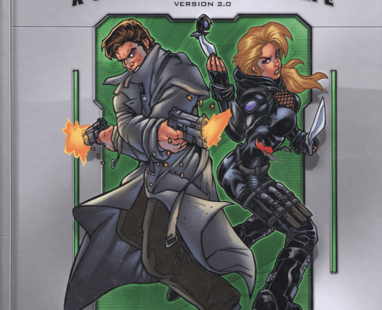 Two spies from Spycraft's cover art.