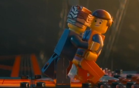 President Business embraces Emmet at the end of the Lego Movie