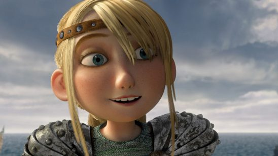 A close up of Astrid's face from How to Train Your Dragon.