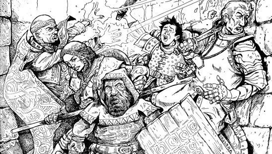 An adventuring party from Torchbearer.