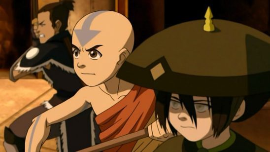 Aang, Sokka, and Toph.