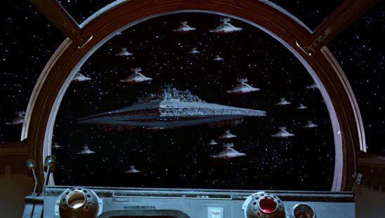 The Imperial fleet from Return of the Jedi
