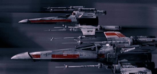 Two X-Wings from the trench run.