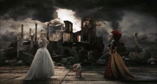 The White and Red Queens meeting before battle.