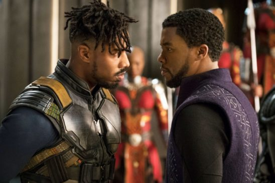 Killmonger and T'Challa from Black Panther