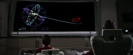 The Enterprise's route in the Kobayashi Maru scenario.