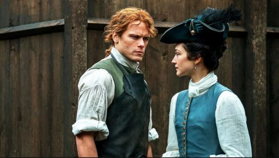 The main characters of Outlander's TV show adaptation.