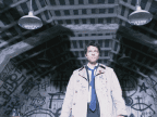 Castiel with shadow wings from Supernatural