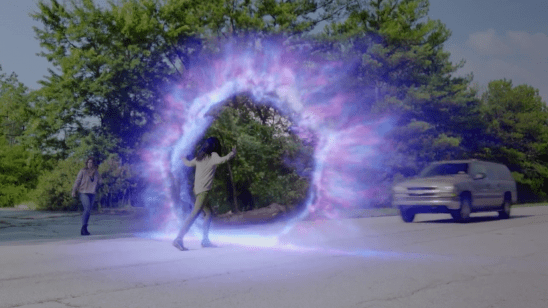 Blink opening a portal in The Gifted