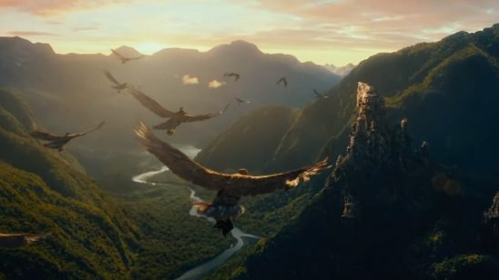Eagles from the Hobbit films.