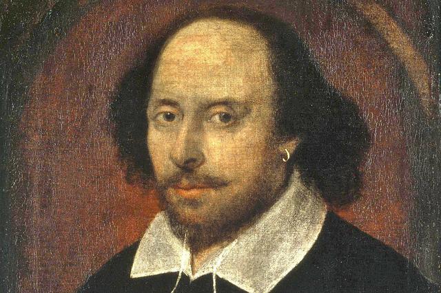 A portrait of William Shakespeare.