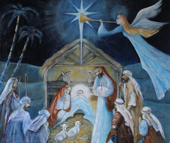 A painting of the Nativity.