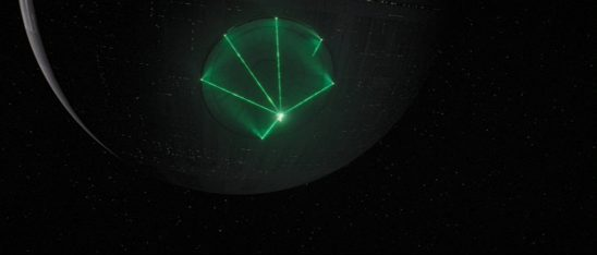 The Death Star preparing to fire in Rogue One