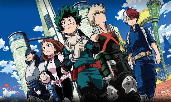 Five of the main characters from My Hero Academia.