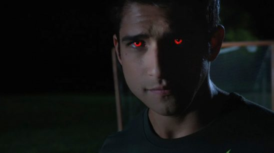Scott with the red eyes of an alpha.