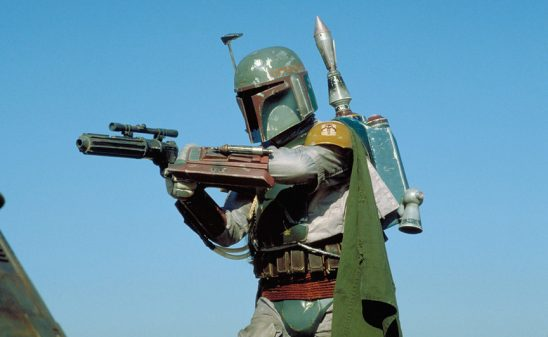 Boba Fett points his gun