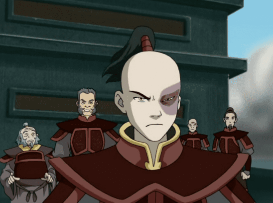 Zuko standing in front of his crew.