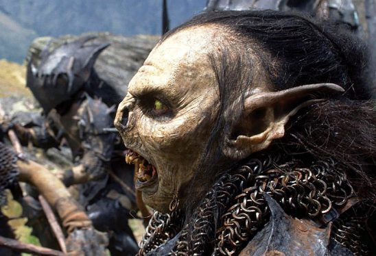 An orc from the Hobbit films shouting.