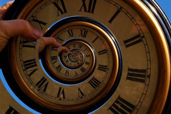A recursive time spiral.