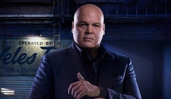 Kingpin from Daredevil in his purple suit.