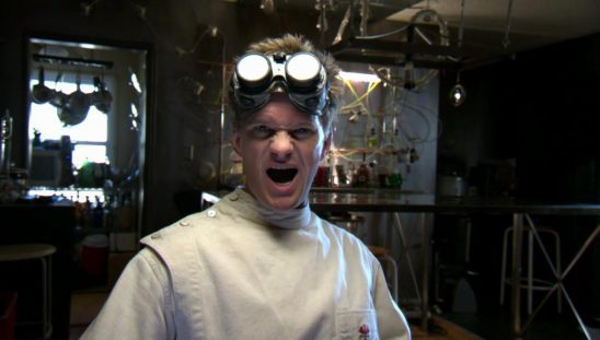 Doctor Horrible making a funny face.