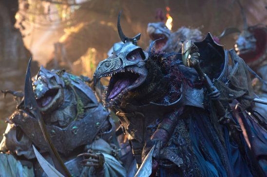 The Skeksis charging into battle.