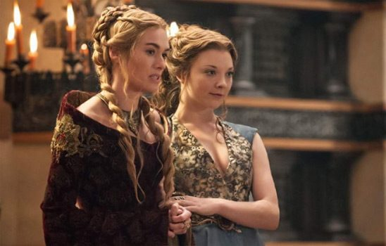 Cersei and Margaery from Game of Thrones walk arm in arm