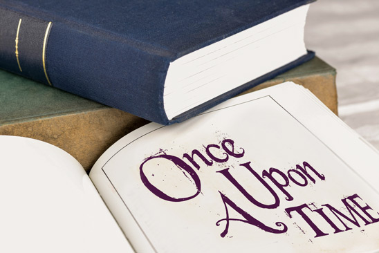 Open book starting with Once Upon A Time