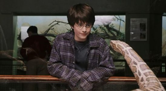 Harry talking to a snake in the first movie.