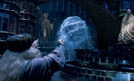 Dumbledore controls a sphere of water