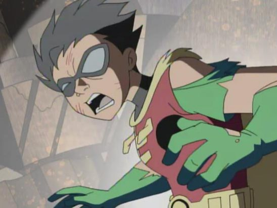 Robin looking beat up from Teen Titans